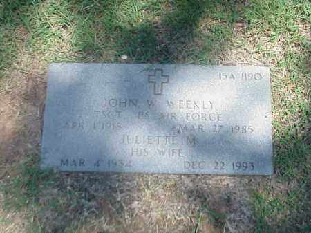 WEEKLY (VETERAN 2 WARS), JOHN W - Pulaski County, Arkansas | JOHN W WEEKLY (VETERAN 2 WARS) - Arkansas Gravestone Photos
