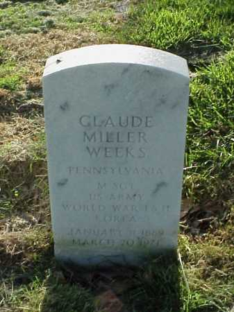WEEKS (VETERAN 3 WARS), CLAUDE MILLER - Pulaski County, Arkansas | CLAUDE MILLER WEEKS (VETERAN 3 WARS) - Arkansas Gravestone Photos