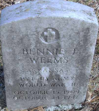WEEMS (VETERAN), BENNIE J - Pulaski County, Arkansas | BENNIE J WEEMS (VETERAN) - Arkansas Gravestone Photos
