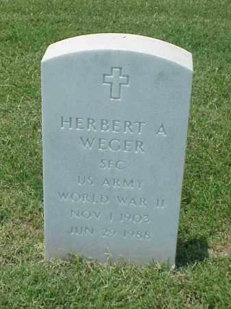 WEGER (VETERAN WWII), HERBERT A - Pulaski County, Arkansas | HERBERT A WEGER (VETERAN WWII) - Arkansas Gravestone Photos