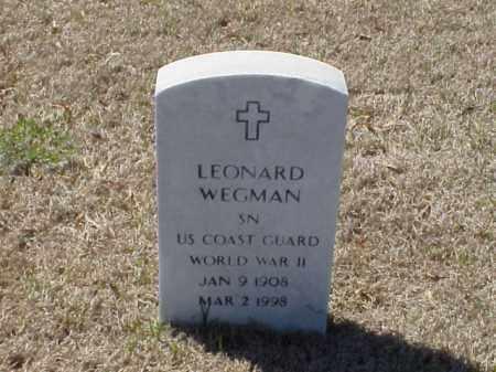 WEGMAN (VETERAN WWII), LEONARD - Pulaski County, Arkansas | LEONARD WEGMAN (VETERAN WWII) - Arkansas Gravestone Photos