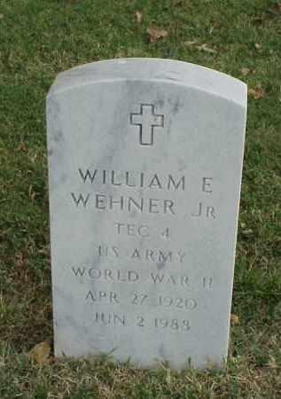 WEHNER, JR (VETERAN WWII), WILLIAM E - Pulaski County, Arkansas | WILLIAM E WEHNER, JR (VETERAN WWII) - Arkansas Gravestone Photos
