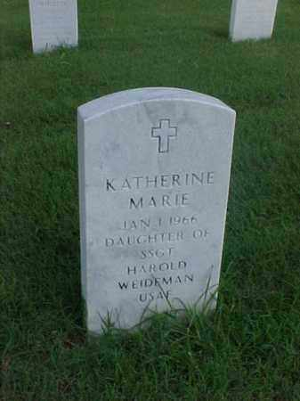 WEIDEMAN, KATHERINE MARIE - Pulaski County, Arkansas | KATHERINE MARIE WEIDEMAN - Arkansas Gravestone Photos