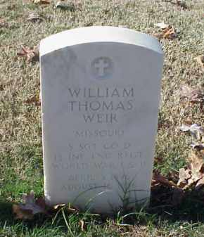 WEIR (VETERAN 2 WARS), WILLIAM THOMAS - Pulaski County, Arkansas | WILLIAM THOMAS WEIR (VETERAN 2 WARS) - Arkansas Gravestone Photos