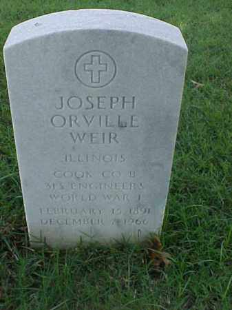 WEIR (VETERAN WWI), JOSEPH ORVILLE - Pulaski County, Arkansas | JOSEPH ORVILLE WEIR (VETERAN WWI) - Arkansas Gravestone Photos