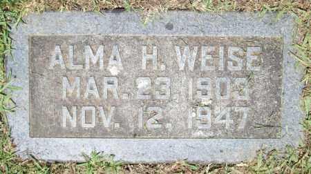 WEISE, ALMA HULDA - Pulaski County, Arkansas | ALMA HULDA WEISE - Arkansas Gravestone Photos