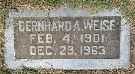WEISE, BERNHARD AUGUST - Pulaski County, Arkansas | BERNHARD AUGUST WEISE - Arkansas Gravestone Photos
