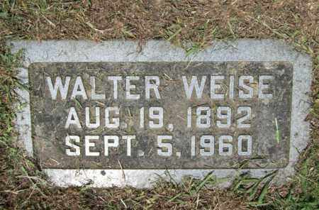 WEISE, WALTER - Pulaski County, Arkansas | WALTER WEISE - Arkansas Gravestone Photos