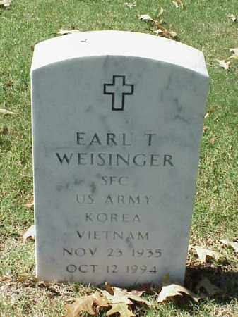 WEISINGER (VETERAN 2 WARS), EARL T - Pulaski County, Arkansas | EARL T WEISINGER (VETERAN 2 WARS) - Arkansas Gravestone Photos