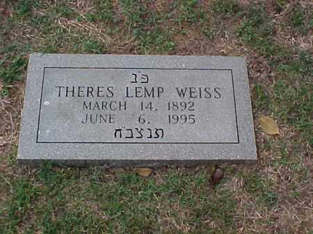 WEISS, THERES - Pulaski County, Arkansas | THERES WEISS - Arkansas Gravestone Photos