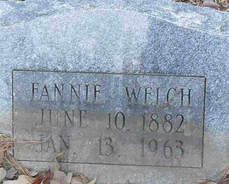 WELCH, FANNIE - Pulaski County, Arkansas | FANNIE WELCH - Arkansas Gravestone Photos