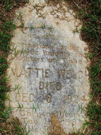 WELCH, MATTIE - Pulaski County, Arkansas | MATTIE WELCH - Arkansas Gravestone Photos