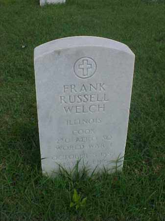 WELCH (VETERAN WWI), FRANK RUSSELL - Pulaski County, Arkansas | FRANK RUSSELL WELCH (VETERAN WWI) - Arkansas Gravestone Photos