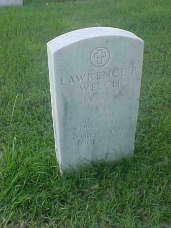 WELCH (VETERAN WWI), LAWRENCE P - Pulaski County, Arkansas | LAWRENCE P WELCH (VETERAN WWI) - Arkansas Gravestone Photos