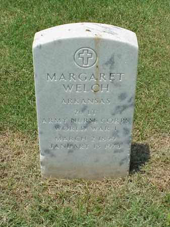 WELCH (VETERAN WWI), MARGARET - Pulaski County, Arkansas | MARGARET WELCH (VETERAN WWI) - Arkansas Gravestone Photos