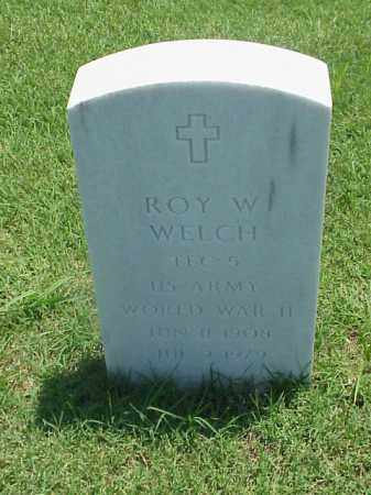 WELCH (VETERAN WWII), ROY W - Pulaski County, Arkansas | ROY W WELCH (VETERAN WWII) - Arkansas Gravestone Photos