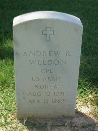 WELDON (VETERAN KOR), ANDREW R - Pulaski County, Arkansas | ANDREW R WELDON (VETERAN KOR) - Arkansas Gravestone Photos