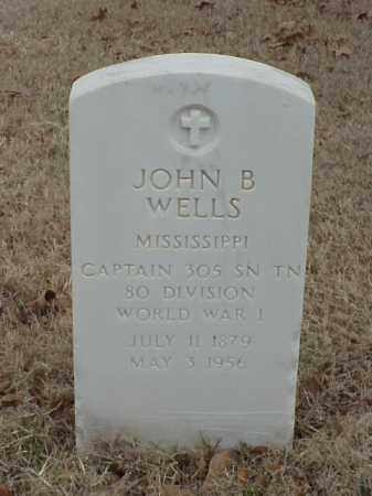 WELLS (VETERAN WWI), JOHN B - Pulaski County, Arkansas | JOHN B WELLS (VETERAN WWI) - Arkansas Gravestone Photos