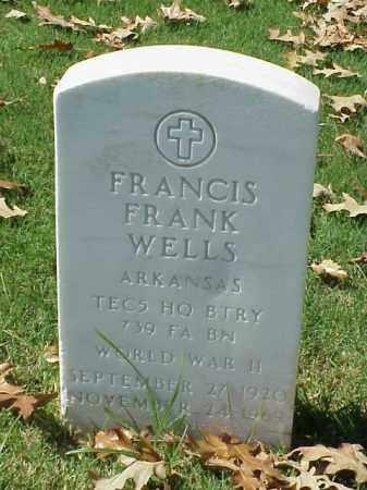 WELLS (VETERAN WWII), FRANCIS FRANK - Pulaski County, Arkansas | FRANCIS FRANK WELLS (VETERAN WWII) - Arkansas Gravestone Photos