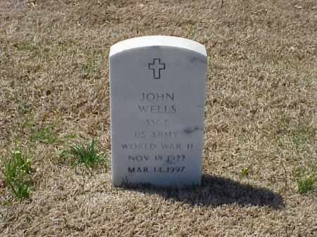 WELLS (VETERAN WWII), JOHN - Pulaski County, Arkansas | JOHN WELLS (VETERAN WWII) - Arkansas Gravestone Photos