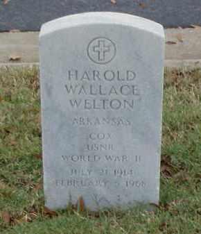 WELTON (VETERAN WWII), HAROLD WALLACE - Pulaski County, Arkansas | HAROLD WALLACE WELTON (VETERAN WWII) - Arkansas Gravestone Photos