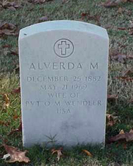 WENDLER, ALVERDA M - Pulaski County, Arkansas | ALVERDA M WENDLER - Arkansas Gravestone Photos