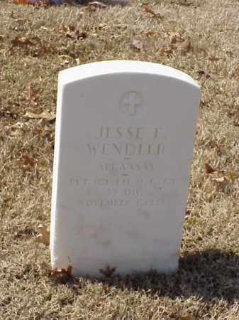 WENDLER (VETERAN WWI), JESSE E - Pulaski County, Arkansas | JESSE E WENDLER (VETERAN WWI) - Arkansas Gravestone Photos
