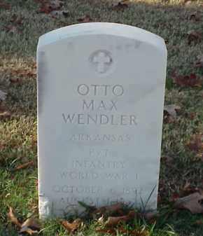 WENDLER (VETERAN WWI), OTTO MAX - Pulaski County, Arkansas | OTTO MAX WENDLER (VETERAN WWI) - Arkansas Gravestone Photos