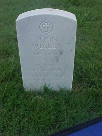 WESLEY (VETERAN WWI), JOHN - Pulaski County, Arkansas   JOHN WESLEY (VETERAN WWI) - Arkansas Gravestone Photos