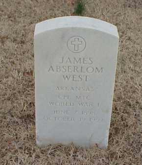 WEST  (VETERAN WWI), JAMES ABSERLOM - Pulaski County, Arkansas | JAMES ABSERLOM WEST  (VETERAN WWI) - Arkansas Gravestone Photos