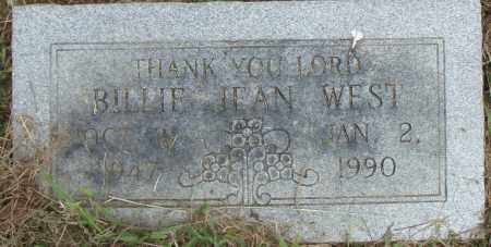 WEST, BILLIE JEAN - Pulaski County, Arkansas   BILLIE JEAN WEST - Arkansas Gravestone Photos