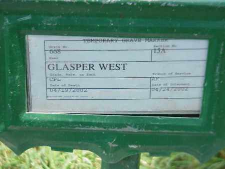 WEST (VETERAN WWII), GLASPER - Pulaski County, Arkansas | GLASPER WEST (VETERAN WWII) - Arkansas Gravestone Photos