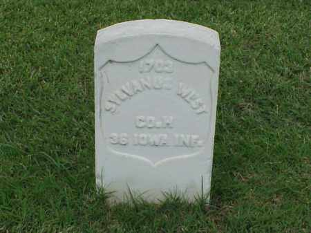WEST (VETERAN UNION), SYLVANUS - Pulaski County, Arkansas | SYLVANUS WEST (VETERAN UNION) - Arkansas Gravestone Photos
