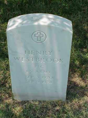 WESTBROOK (VETERAN), HENRY - Pulaski County, Arkansas | HENRY WESTBROOK (VETERAN) - Arkansas Gravestone Photos