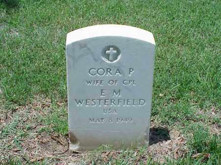WESTERFIELD, CORA P - Pulaski County, Arkansas | CORA P WESTERFIELD - Arkansas Gravestone Photos