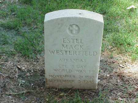 WESTERFIELD (VETERAN WWI), ESTEL MACK - Pulaski County, Arkansas | ESTEL MACK WESTERFIELD (VETERAN WWI) - Arkansas Gravestone Photos