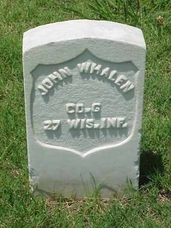 WHALEN (VETERAN UNION), JOHN - Pulaski County, Arkansas | JOHN WHALEN (VETERAN UNION) - Arkansas Gravestone Photos