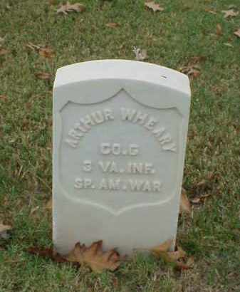 WHEARY (VETERAN SAW), ARTHUR - Pulaski County, Arkansas | ARTHUR WHEARY (VETERAN SAW) - Arkansas Gravestone Photos