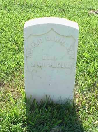 WHEATON (VETERAN UNION), ALFRED D - Pulaski County, Arkansas   ALFRED D WHEATON (VETERAN UNION) - Arkansas Gravestone Photos