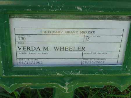 WHEELER, VERDA M - Pulaski County, Arkansas | VERDA M WHEELER - Arkansas Gravestone Photos
