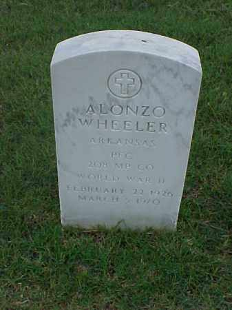 WHEELER (VETERAN WWII), ALONZO - Pulaski County, Arkansas | ALONZO WHEELER (VETERAN WWII) - Arkansas Gravestone Photos