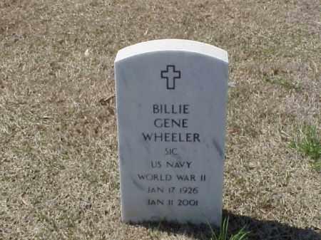 WHEELER (VETERAN WWII), BILLIE GENE - Pulaski County, Arkansas | BILLIE GENE WHEELER (VETERAN WWII) - Arkansas Gravestone Photos