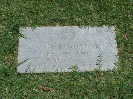 WHEELER (VETERAN WWII), RUTH R - Pulaski County, Arkansas | RUTH R WHEELER (VETERAN WWII) - Arkansas Gravestone Photos