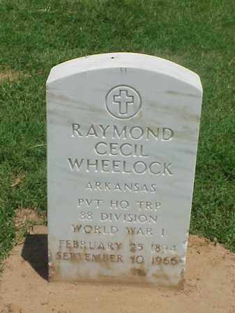 WHEELOCK (VETERAN WWI), RAYMOND CECIL - Pulaski County, Arkansas | RAYMOND CECIL WHEELOCK (VETERAN WWI) - Arkansas Gravestone Photos