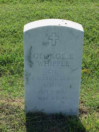 WHIPPLE (VETERAN KOR), GEORGE E - Pulaski County, Arkansas | GEORGE E WHIPPLE (VETERAN KOR) - Arkansas Gravestone Photos
