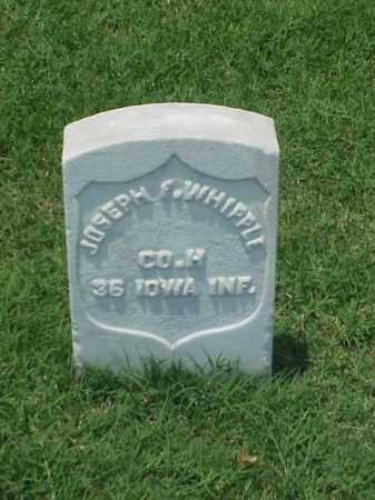 WHIPPLE (VETERAN UNION), JOSEPH F - Pulaski County, Arkansas | JOSEPH F WHIPPLE (VETERAN UNION) - Arkansas Gravestone Photos
