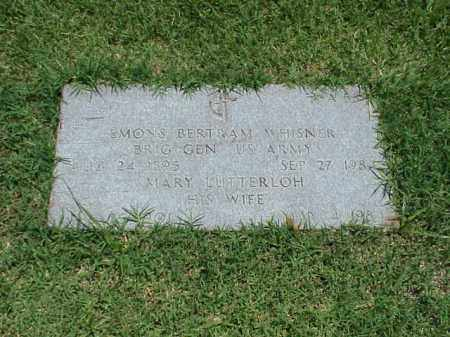 WHISNER (VETERAN 3 WARS), EMONS BERTRAM - Pulaski County, Arkansas | EMONS BERTRAM WHISNER (VETERAN 3 WARS) - Arkansas Gravestone Photos