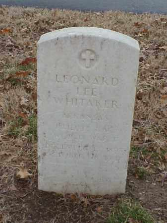 WHITAKER (VETERAN WWI), LEONARD LEE - Pulaski County, Arkansas | LEONARD LEE WHITAKER (VETERAN WWI) - Arkansas Gravestone Photos