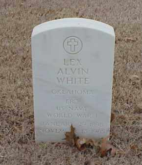 WHITE  (VETERAN WWI), LEX ALVIN - Pulaski County, Arkansas | LEX ALVIN WHITE  (VETERAN WWI) - Arkansas Gravestone Photos