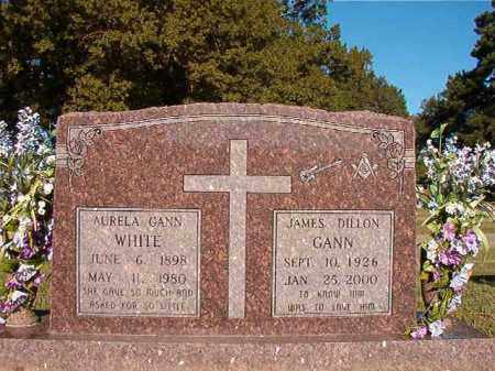 GANN WHITE, AURELA - Pulaski County, Arkansas | AURELA GANN WHITE - Arkansas Gravestone Photos